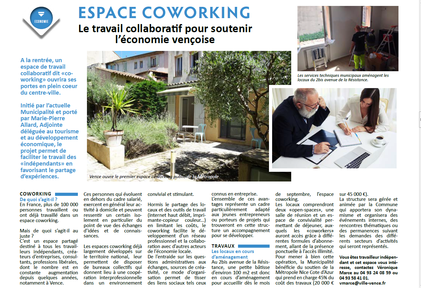La Vie a Vence  Juin 2016 - Espace Coworking Métropole Nice Côte d'Azur